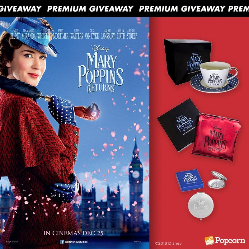 Win Limited Edition Movie Premiums To 'Disney's Mary Poppins Returns'