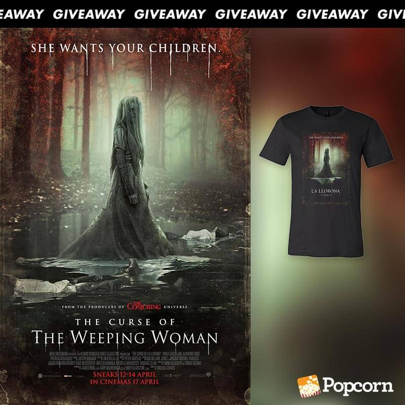 1f7330bf9 Win A Limited Edition 'The Curse Of The Weeping Woman' T-Shirt - Popcorn