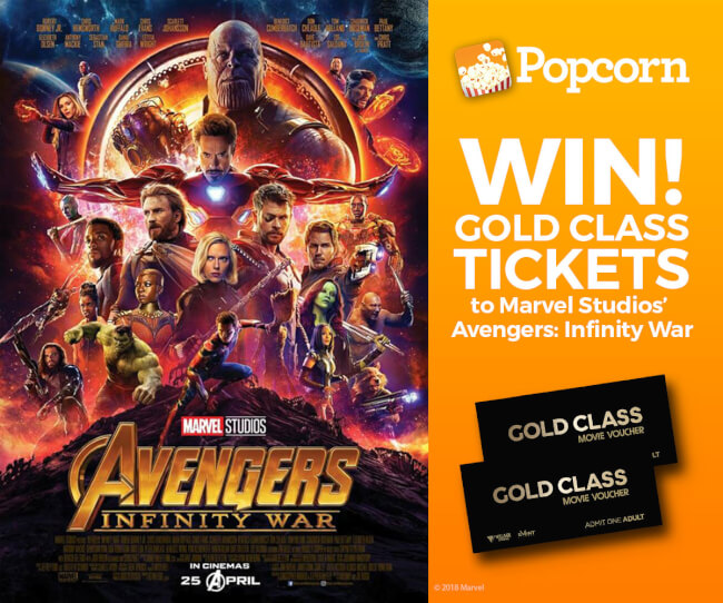 Win A Pair of Tickets To Catch Marvel Studios' 'Avengers: Infinity War' In Gold Class®