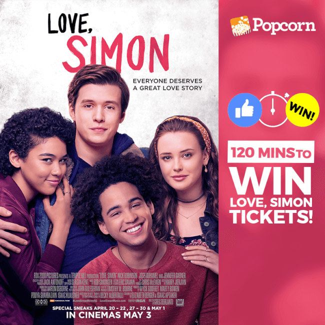 [CLOSED] 120 MIN FLASH GIVEAWAY: 'Love, Simon' Exclusive Preview Tickets