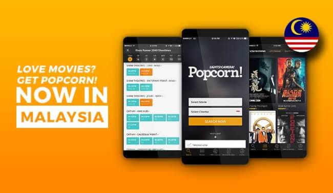 Singapore's Leading All-In-One Movie App 'Popcorn' Is Now In Malaysia!