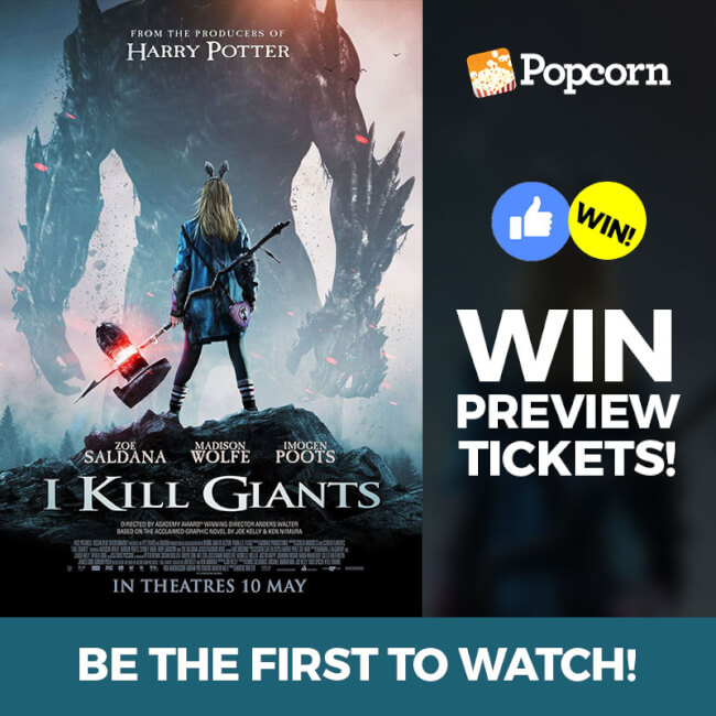 Win A Pair Of Preview Tickets To Fantasy Thriller 'I Kill Giants'