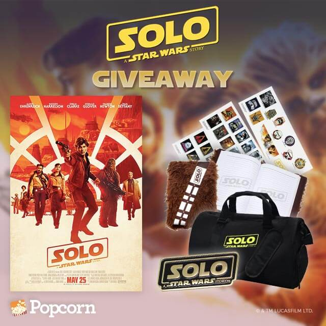 Win Limited Edition Solo: A Star Wars Story Movie Premiums!