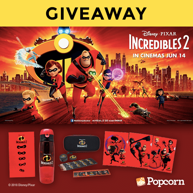 Win Limited Edition Disney/Pixar's Incredibles 2 Movie Premiums