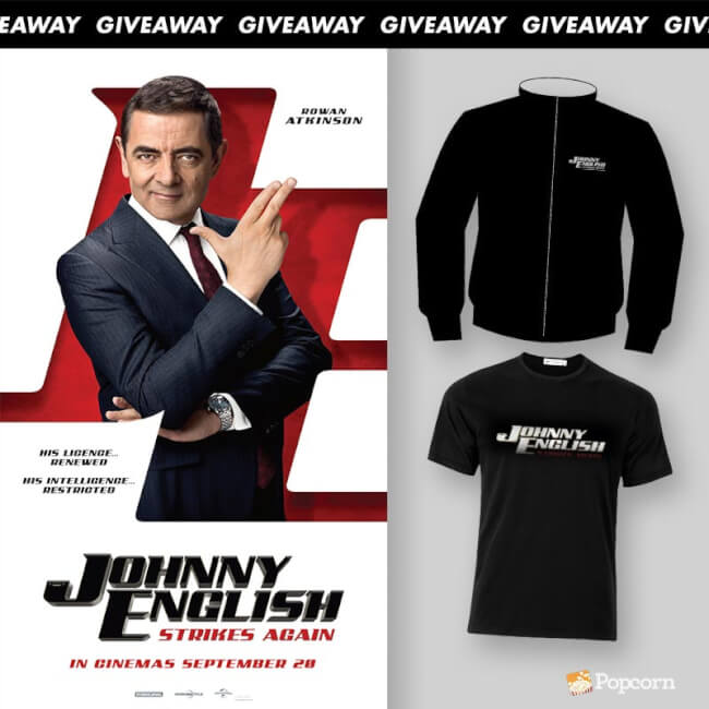 Win Limited Edition 'Johnny English Strikes Again' Movie Premiums