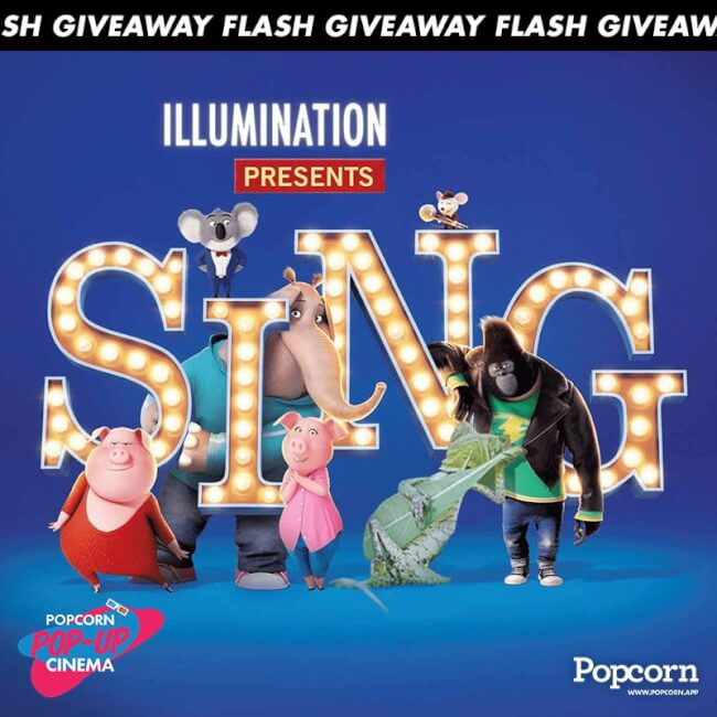 120 MIN Flash Giveaway: 'Sing' Tickets