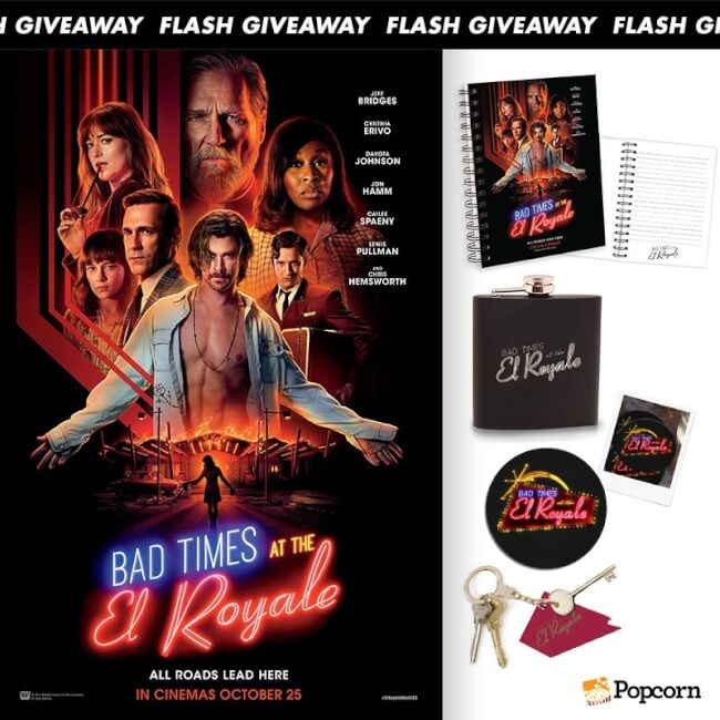 Win Limited Edition Premiums To Star-Studded Thriller 'Bad Times At The El Royale'