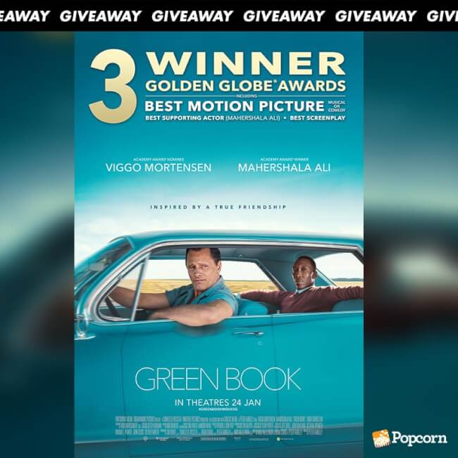 Win Movie And Popcorn Combo Vouchers To Biographical Dramedy 'Green Book'