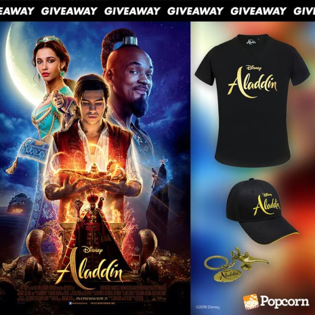 Win Limited Edition Disney's Aladdin Movie Premiums