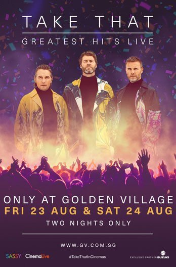 Take That: Greatest Hits Live Movie Poster
