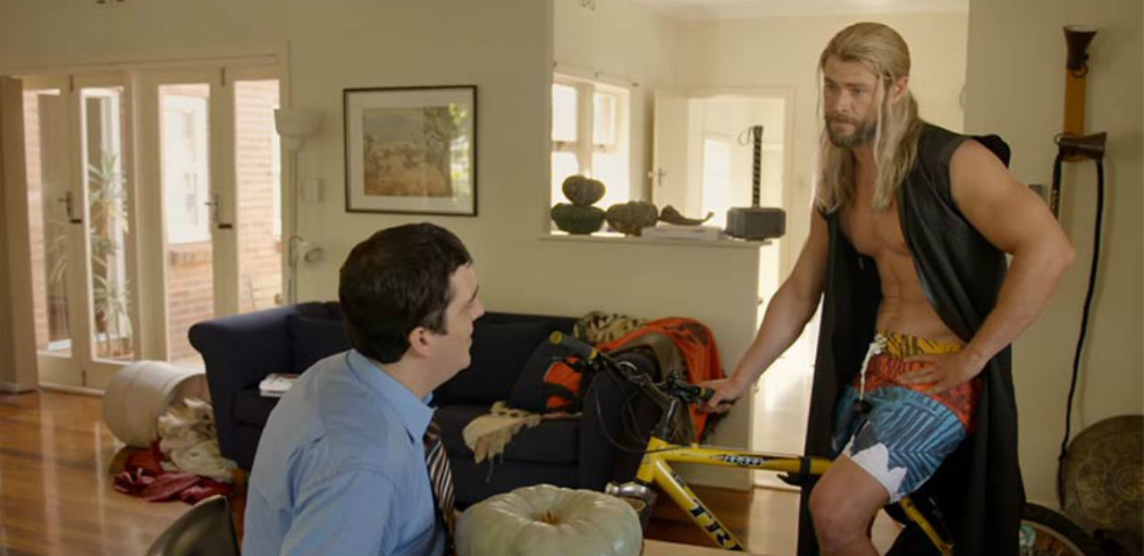 Woooo...Shirtless Thor Tries To Pay For Rent The Asgardian Way