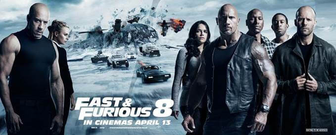 Fast & Furious 8 Is The No. 1 Film World Wide!