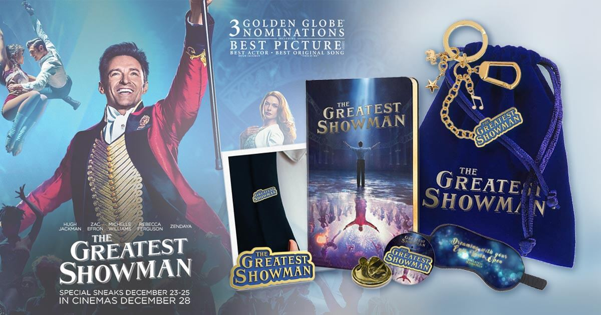 [Closed] Win Limited Edition 'The Greatest Showman' Movie Premiums