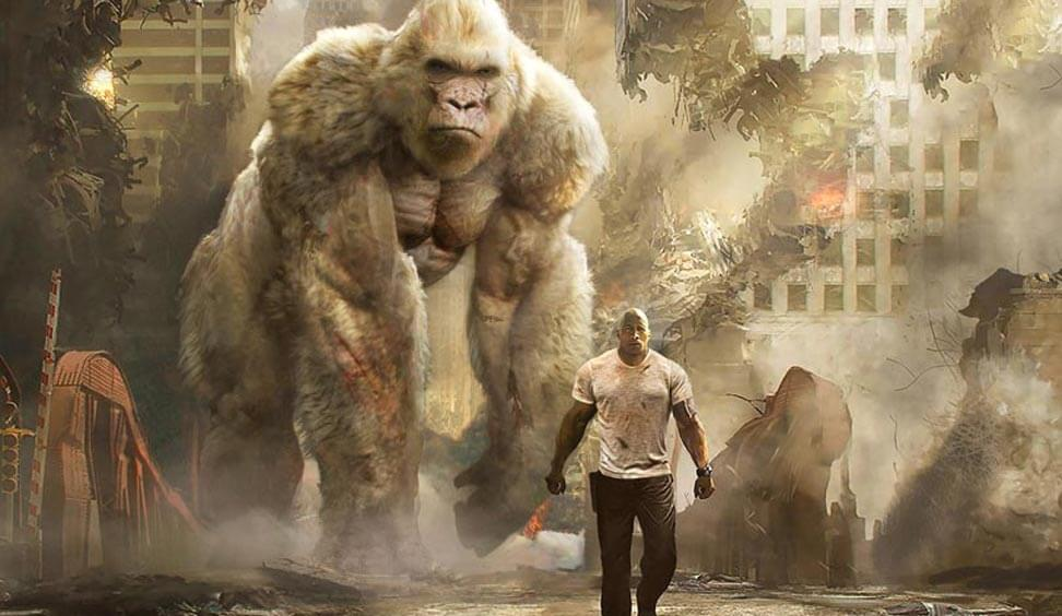 Dwayne Johnson Battles A Flying Wolf In The New Crazy Trailer For 'Rampage'