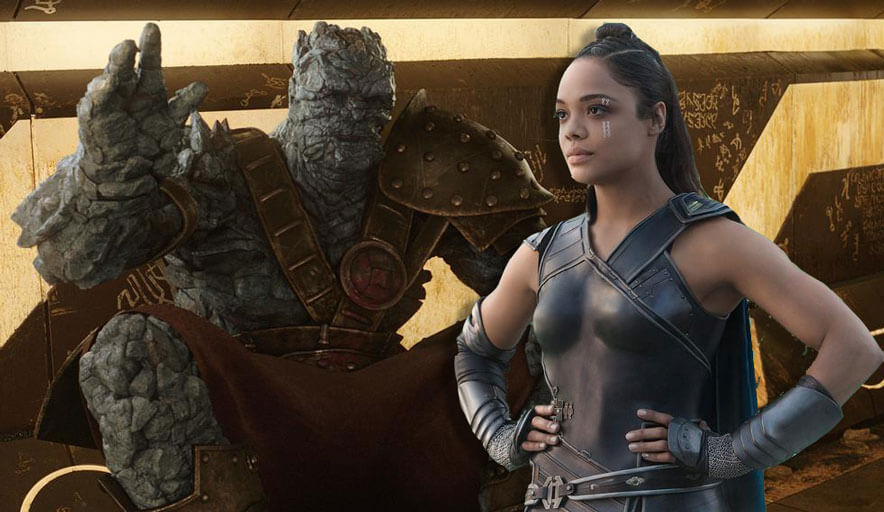 Avengers: Infinity War - Valkyrie and Korg