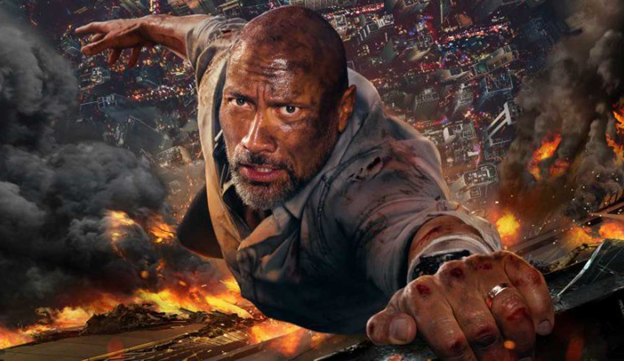 Terrorists Are No Match For Dwayne Johnson In The New Fiery Trailer For 'Skyscraper'