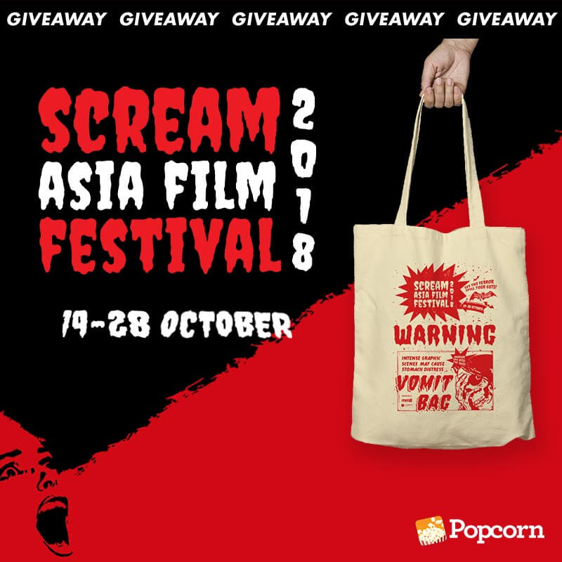 Win Tickets & Tote Bags To Scream Asia Film Festival 2018