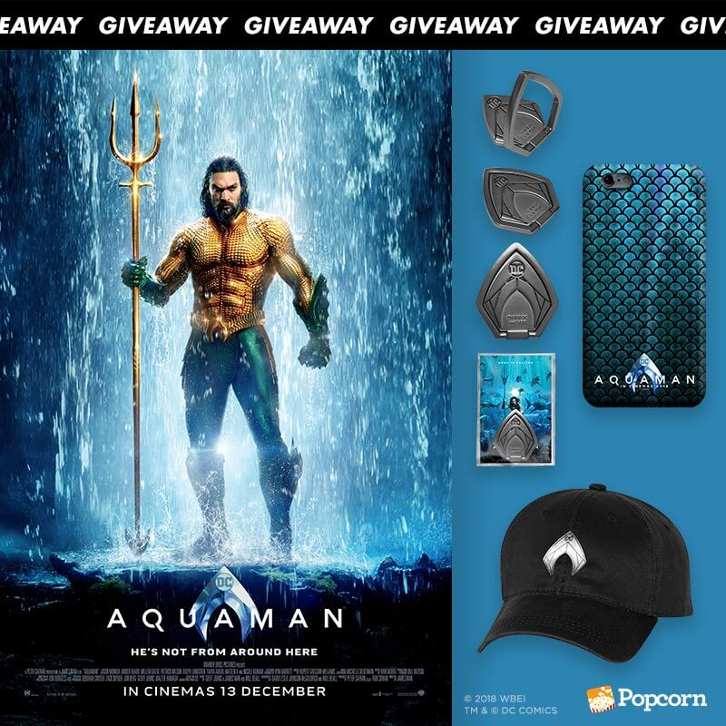 Win Limited Edition Movie Merchandise To The Highly Anticipated 'Aquaman'