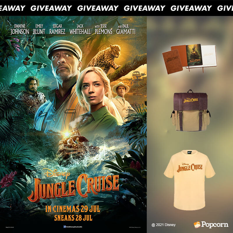 Win Disney's JUNGLE CRUISE movie premiums