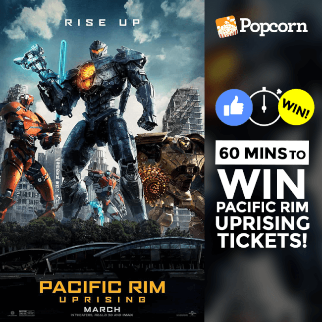 [CLOSED] 60 MIN FLASH GIVEAWAY: Join Now To Win Free 'Pacific Rim: Uprising' Movie Tickets!