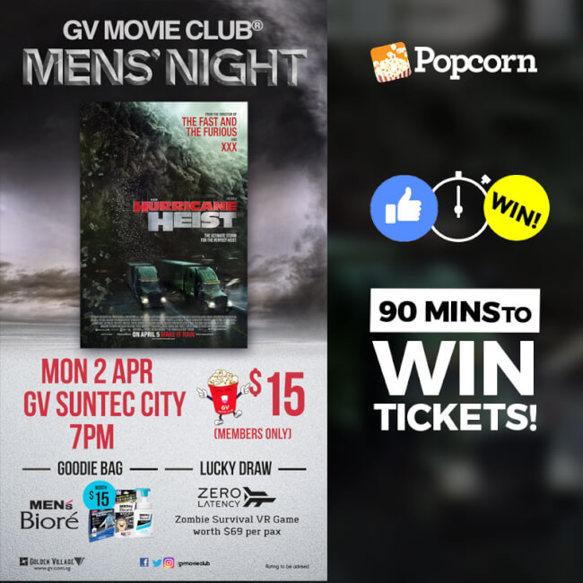 [CLOSED] 90 MIN FLASH GIVEAWAY: GVMC Men's Night - The Hurricane Heist Tickets