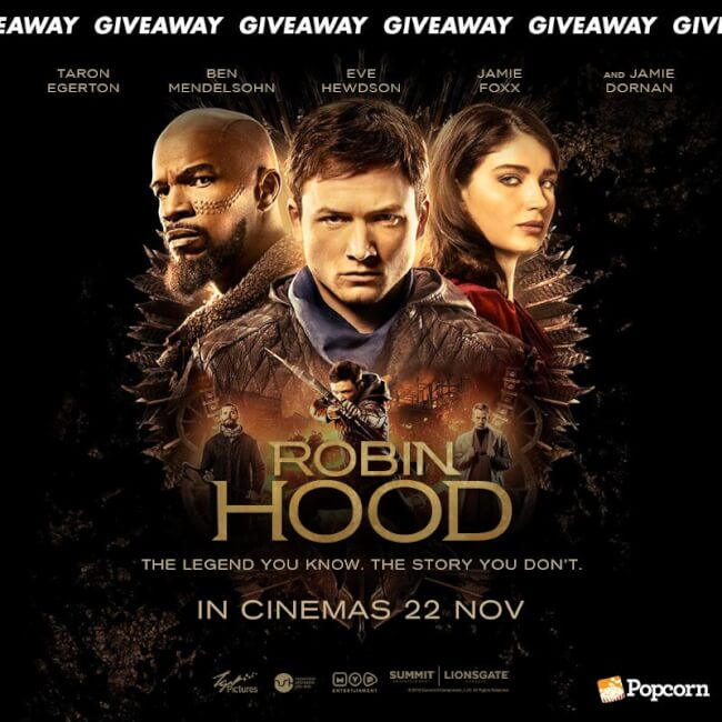 Win A Pair Of Premiere Tickets To Action Adventure 'Robin Hood'