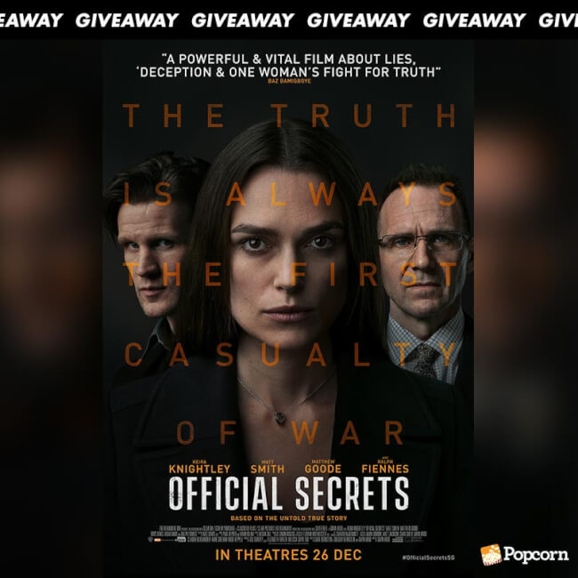 Win Preview Tickets To Biographical Romance Drama 'Official Secrets'